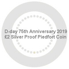 D-day 75th Anniversary 2019 UK £2 Silver Proof Piedfort Coin