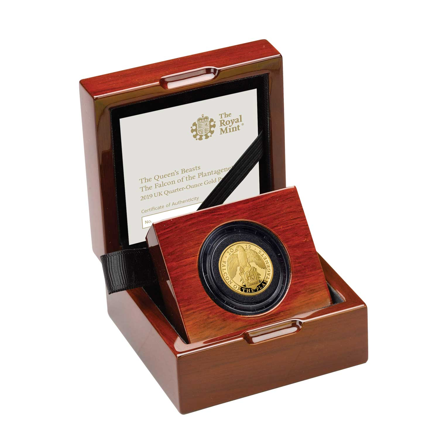The Falcon of the Plantagenets 2019 UK Quarter-Ounce Gold Proof Coin