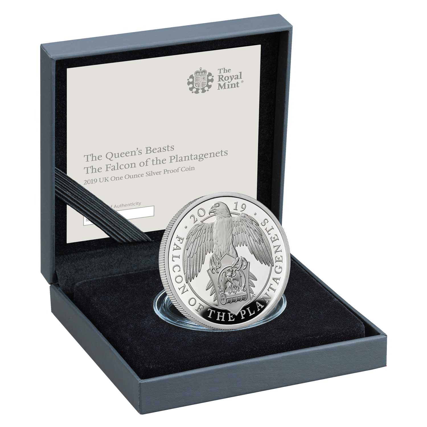 The Falcon of the Plantagenets 2019 UK One-Ounce Silver Proof Coin