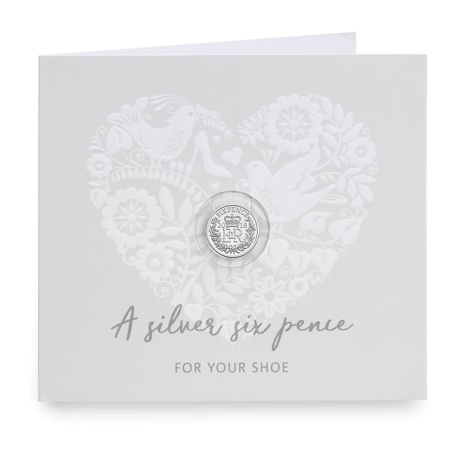 Wedding Silver Sixpence Gift Card Presentation