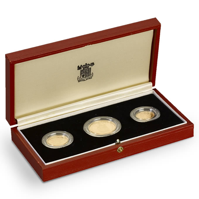1989 Elizabeth II Gold Proof 3-Coin Set