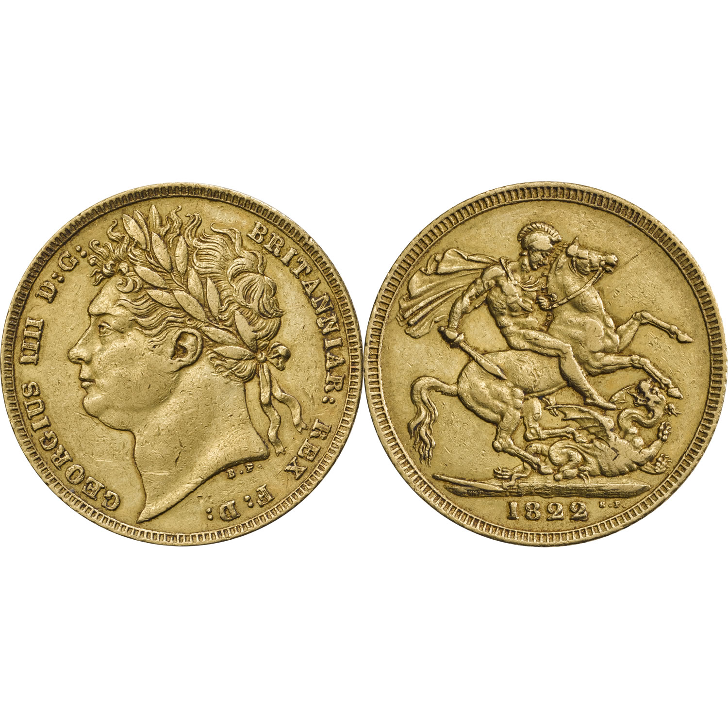 George IV Laureate Head Sovereign Fine or Better