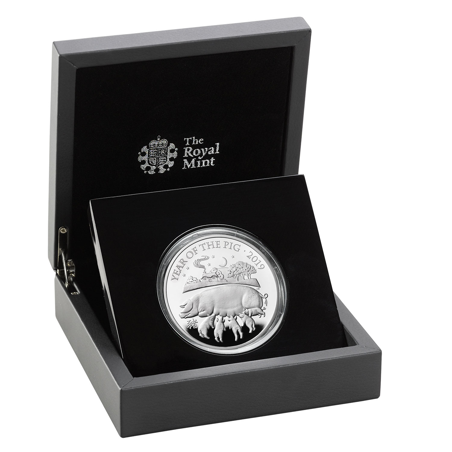 Lunar Year of the Pig 2019 UK Five-Ounce Silver Proof Coin