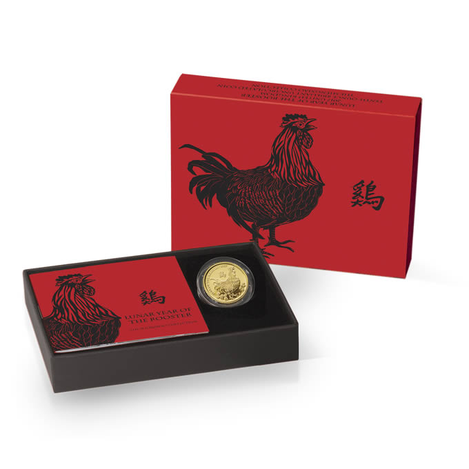 Lunar Year of the Rooster 2017 UK Tenth-Ounce Gold Brilliant Uncirculated Coin