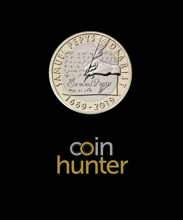 2019 Samuel Pepys £2 [Coin Hunter card]