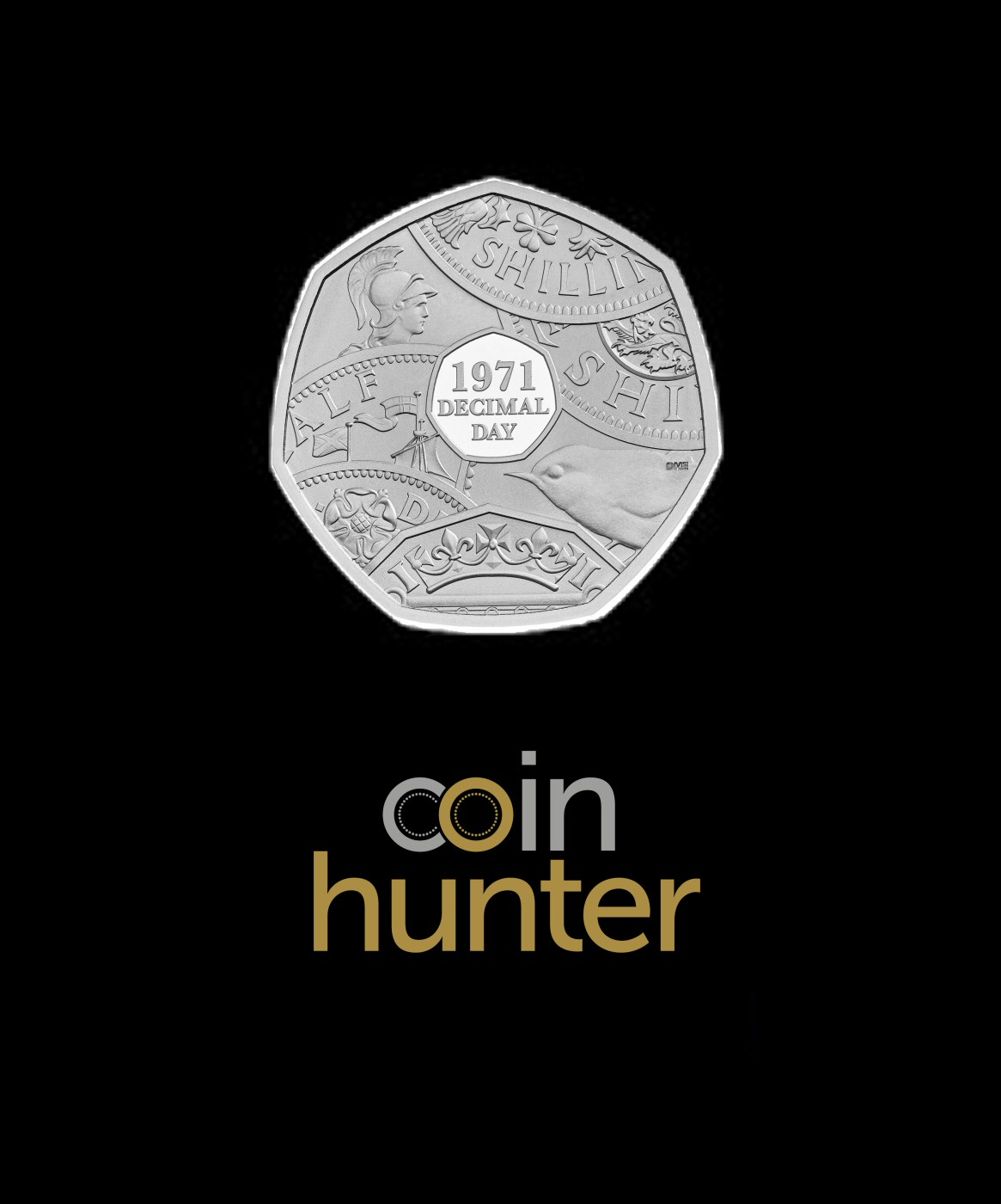 2021 50th Anniversary of Decimal Day 50p [Coin Hunter card]