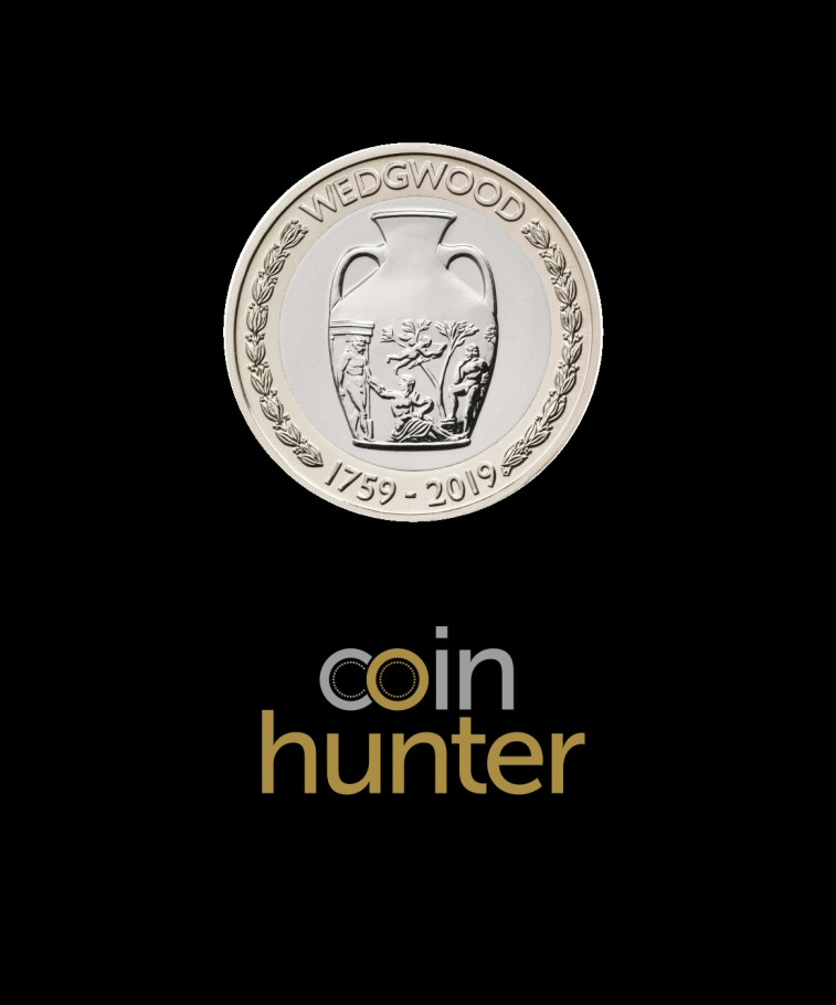 Coin Hunter Premium Circulated 2019 Wedgwood £2 [Coin Hunter card] £2 Coin