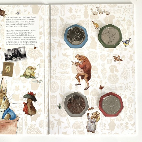 Beatrix Potter 2017 50p Coin Collector Album [Includes Uncirculated coins]