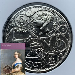 2019 200th Anniversary Queen Victoria's birth Brilliant Uncirculated £5