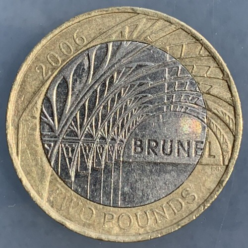 2006 Isambard Kingdom Brunel Paddington Station £2 Coin [Circulated]