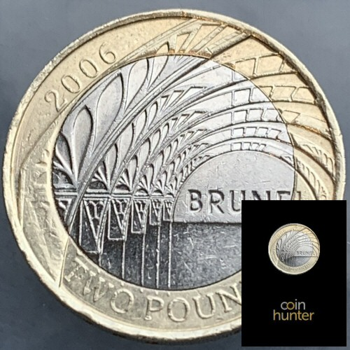 2006 Isambard Kingdom Brunel Paddington Station £2 Coin [Coin Hunter card]