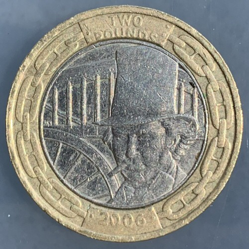 2006 Isambard Kingdom Brunel Engineer £2 Coin [Circulated]