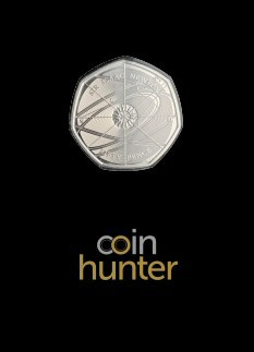 2017 Isaac Newton Brilliant Uncirculated 50p [Coin Hunter card]