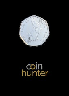 2017 Beatrix Potter Peter Rabbit Brilliant Uncirculated 50p [Coin Hunter card]