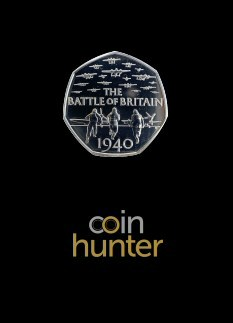 2019 Battle of Britain Brilliant Uncirculated 50p [Coin Hunter card]