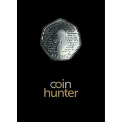 2019 Sherlock Holmes Brilliant Uncirculated 50p [Coin Hunter card]