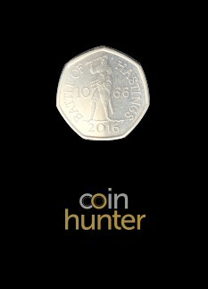 2019 Battle of Hastings Brilliant Uncirculated 50p [Coin Hunter card]