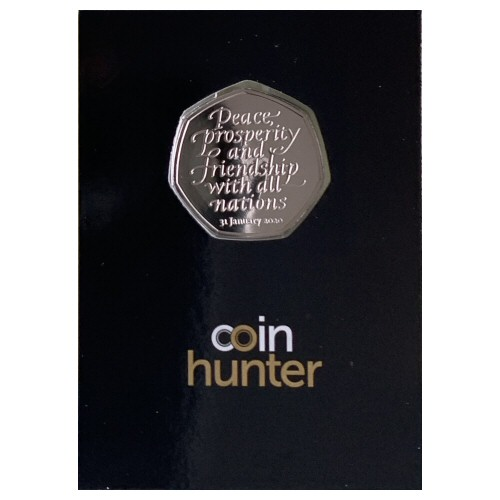 2020 Withdrawal from the European Union (Brexit) Brilliant Uncirculated 50p [Coin Hunter card]