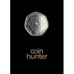 2019 Girlguiding Brilliant Uncirculated 50p [Coin Hunter card]
