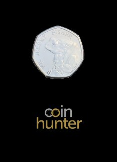 2017 Beatrix Potter Jeremy Fisher Brilliant Uncirculated 50p [Coin Hunter card]