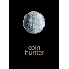 2019 Kew Gardens Brilliant Uncirculated 50p [Coin Hunter card]