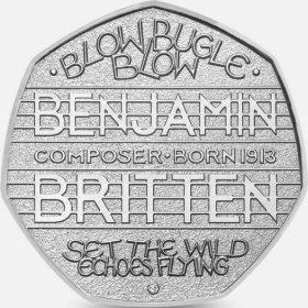 2013 Benjamin Britten 50p [Circulated]