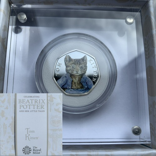 2017 Tom Kitten Silver Proof 50p Beatrix Potter