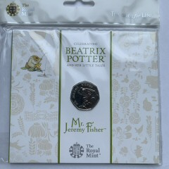 2017 Beatrix Potter Jeremy Fisher Brilliant Uncirculated 50p [Royal Mint pack]