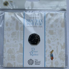2017 Beatrix Potter Peter Rabbit Brilliant Uncirculated 50p [Royal Mint pack]