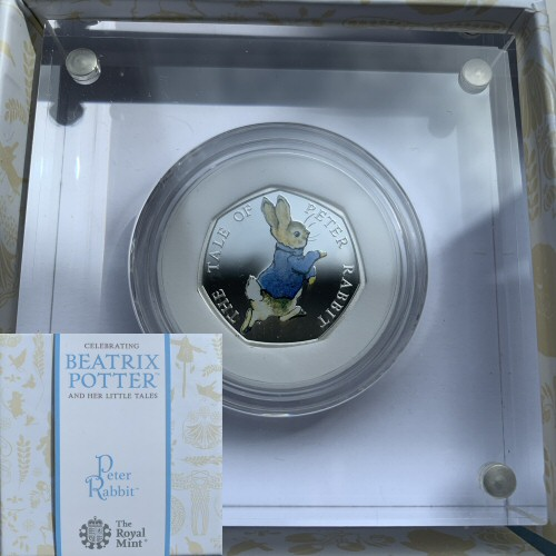 2017 Peter Rabbit Silver Proof 50p Beatrix Potter
