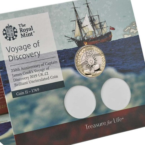 2019 Captain Cook Brilliant Uncirculated £2 [Royal Mint pack]