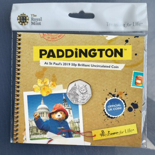 2019 Paddington at St. Paul's Cathedral 50p [Royal Mint pack]