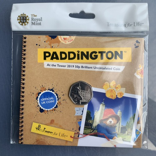 2019 Paddington at the Tower of London 50p [Royal Mint pack]