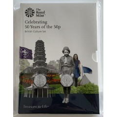 50 Years of the 50p Brilliant Uncirculated Set - British Culture