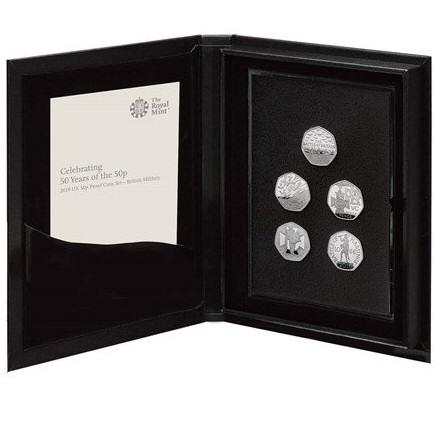 50 Years of the 50p Proof Coin Set Military
