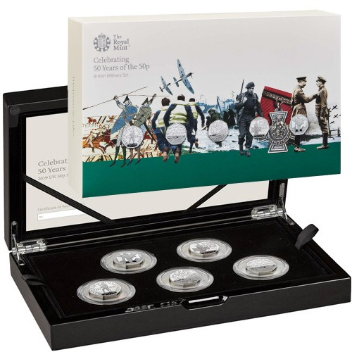 Military Silver Proof Coin Set 50 Years of the 50p