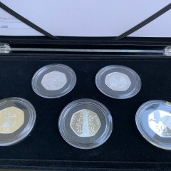 50 Years of the 50p Silver Proof Coin Set British Culture