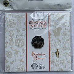2017 Beatrix Potter Benjamin Bunny Brilliant Uncirculated 50p [Royal Mint pack]