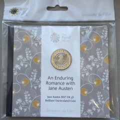 2017 Jane Austen Brilliant Uncirculated £2 [Royal Mint pack]