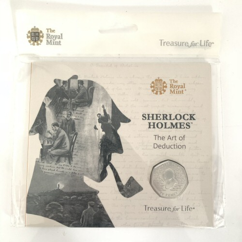 2019 Sherlock Holmes Brilliant Uncirculated 50p [Royal Mint pack]