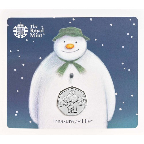2019 The Snowman and James Brilliant Uncirculated 50p [Royal Mint pack]