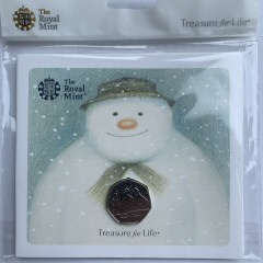 2018 The Snowman Brilliant Uncirculated 50p [Royal Mint pack]