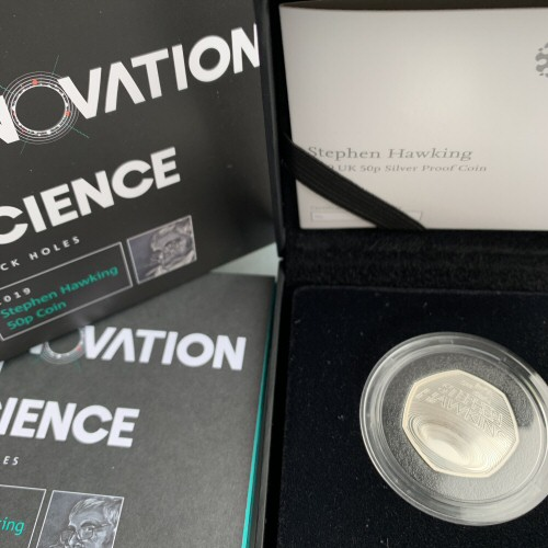 2019 Stephen Hawking Silver Proof 50p