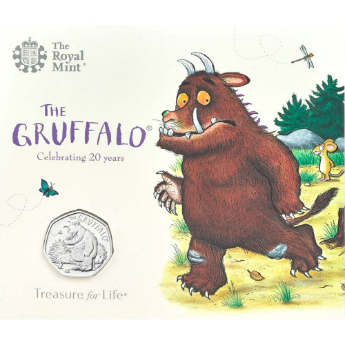 2019 The Gruffalo & The Mouse Brilliant Uncirculated 50p [Royal Mint pack]
