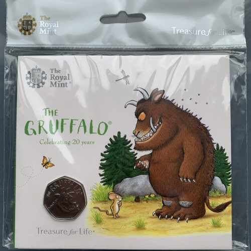 2019 The Gruffalo Brilliant Uncirculated 50p [Royal Mint pack]