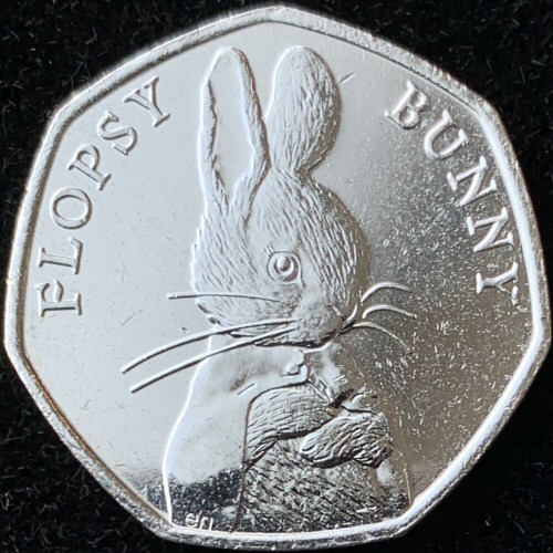 2018 Beatrix Potter Flopsy Bunny 50p [Uncirculated]